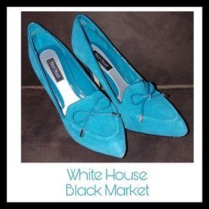 Blue suede Heels - WHBM